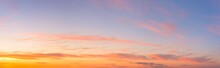 Panorama Of A Blue-pink Sunset...