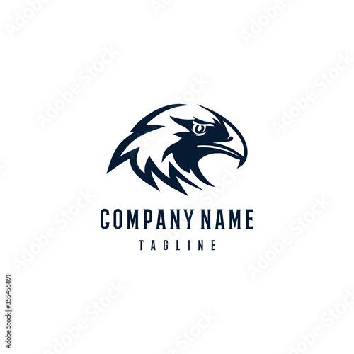 Golden eagle logo design template Canvas Print