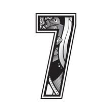Decorative Number 7