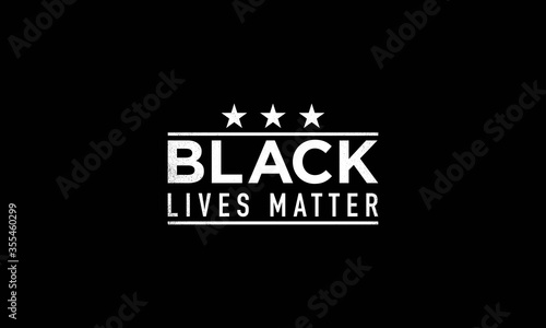 Valokuva Black lives matter grunge writing on black background.