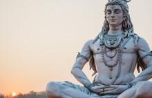 Close Up Of Shiva God In Rishikesh, India