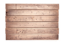 Aged Wooden Board On White Bac...
