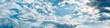 Leinwandbild Motiv Backgrounds and textures. Blue beautiful sky with clouds.