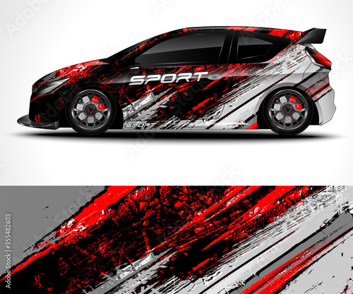 Racing sport car wrap design and vehicle livery Tableau sur Toile