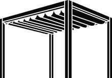 Pergola Icon , Vector Illustration