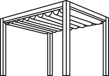Pergola Icon , Vector Illustra...