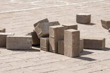 Paving Bricks Stacked On Top O...