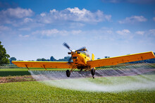 Yellow Crop Duster Airplane Ae...