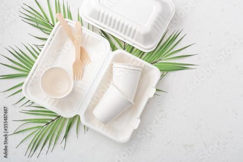 Fotografía Eco friendly food packaging
