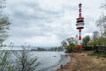 Red White Lighthouse On The Gulf Of Finland
