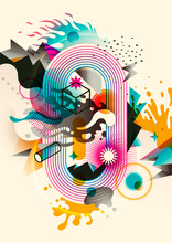 Modern Abstract Illustration M...
