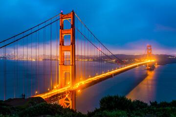 Fototapeta Do salonu A view of Golden Gate Bridge, San Francisco, California, USA