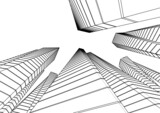 Fototapeta Do przedpokoju - architecture building vector 3d illustration