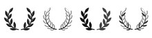 Laurel Wreath Set. Vector Illu...