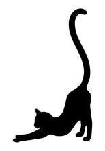 Icon Einer Katze, Die Sich Streckt