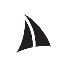 Boat Sails Icon Vector On Whit...
