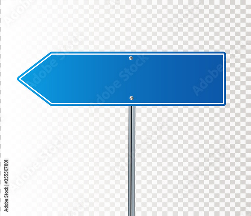 Fotografia Side road blank blue sign