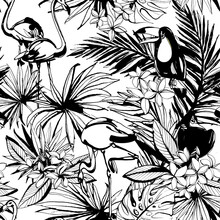 Tropical Floral Summer Seamles...