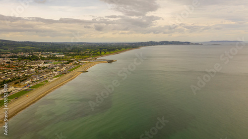 Photo Aerial view of Bray Head in county Wicklow Ireland