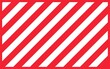 Warning red sign with white rectangular lines. Abstract backdrop with diagonal red and white strips. Danger zone background. warning striped rectangular background, red and white stripes diagonally.