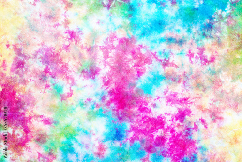 Obraz tie dye pattern hand dyed on cotton fabric abstract texture background. - fototapety do salonu