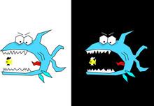 Cute And Funny Fish, Cartoon I...
