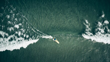 Surfing Sandy Beach From Above