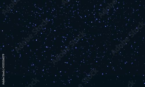 Obraz na plátně Star Sky. Space Stars Background.Glitter Particles