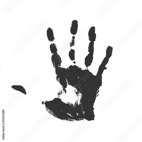 Creative design of black hand Fototapet