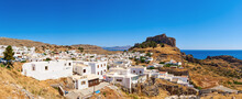 View Of The Village Of Lindos ...