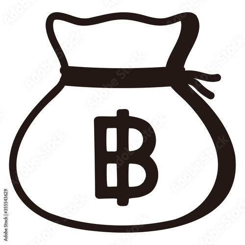 Slika na platnu Money drawstring bag ( thai baht )
