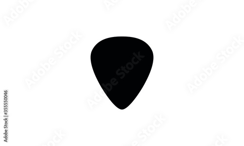 Guitar pick icon in simple vector illustration Fototapeta
