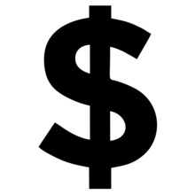 Vector Icon Of The Dollar Currency Sign