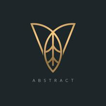 Vector Abstract Modern V Lette...