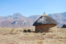 Rondavel In Lesotho