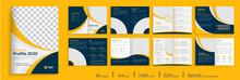 Orange Business Brochure Template Layout Design, 16 Page Corporate Brochure Editable Template Layout, Minimal Business Brochure Template Design.