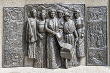 Kate Sheppard Memorial In Christchurch, New Zealand