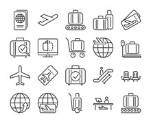 Airport Icons. Airport And Air...
