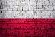 National Flag Of Poland On Bri...