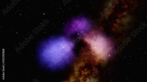 space nebula and stars Canvas Print