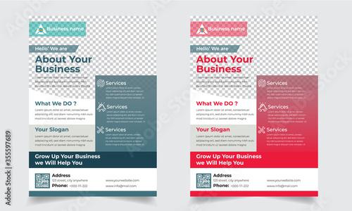Cuadros en Lienzo Business Solution Flyer Design Template EPS