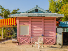 Old Pink Wooden Building