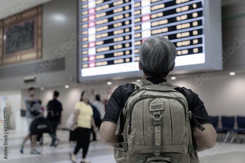 Cuadros en Lienzo Traveler was cancel flights for stop prevent COVID-19 virus disease concept, Sen