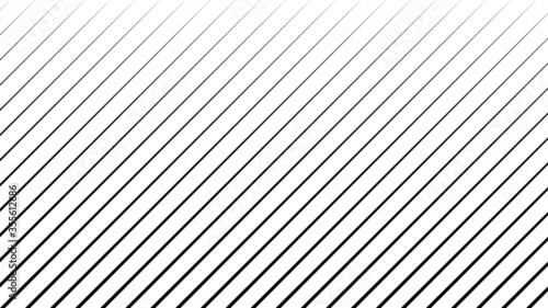 Abstract Black Striped Background . Vector Fotobehang
