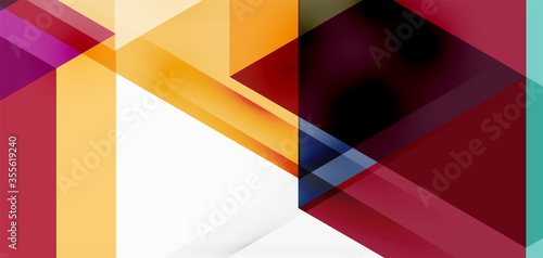 Fototapeta Geometric abstract background, mosaic triangle and hexagon shapes
