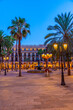Fountain at Placa Reial in Barcelona, Spain