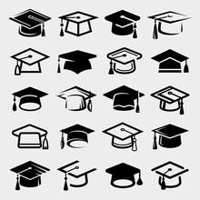 Graduation Cap Set. Collection...