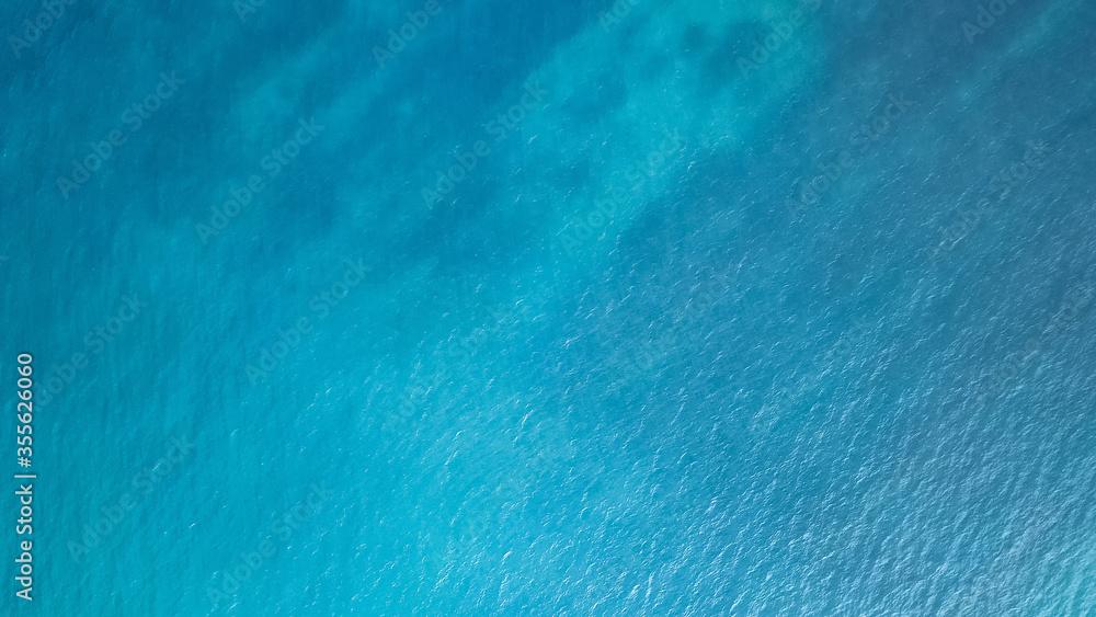 Fototapeta Blue sea surface from above