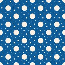 Polka Dot Print On Blue Backgr...