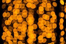Unfocused Blurred Orange Bokeh Background. Unfocused. Bokeh Abstract Texture. Unfocused Background. Blurred Bright Light